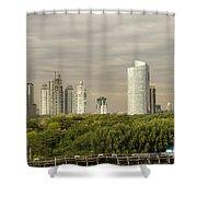 Modern Buenos Aires Shower Curtain