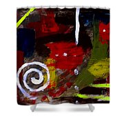 Modern Cave Art Shower Curtain
