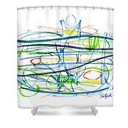 Modern Drawing Eighty-seven Shower Curtain