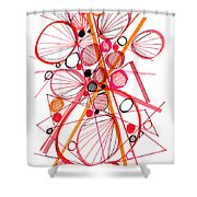 Modern Drawing Fifty-four Shower Curtain