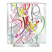 Modern Drawing Fifty-three Shower Curtain