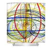 Modern Drawing Fourteen Shower Curtain