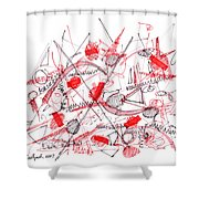 Modern Drawing Ninety-five Shower Curtain