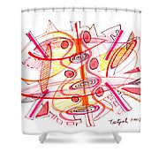 Modern Drawing Seventy-four Shower Curtain
