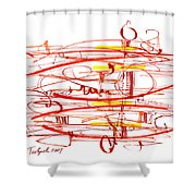 Modern Drawing Seventy Shower Curtain