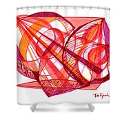 Modern Drawing Seventy-one Shower Curtain