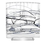 Modern Drawing Seventy-six Shower Curtain