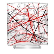 Modern Drawing Seventy-two Shower Curtain