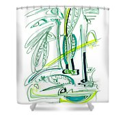 Modern Drawing Sixty-four Shower Curtain