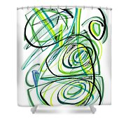 Modern Drawing Sixty Shower Curtain