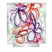Modern Drawing Sixty-six Shower Curtain