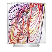Modern Drawing Sixty-three Shower Curtain
