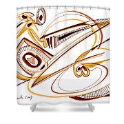 Modern Drawing Twenty Shower Curtain
