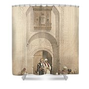 Modern Mansion, Showing The Arabesque Shower Curtain