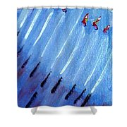 Modern Menorah Shower Curtain