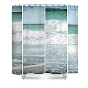 Modern Ocean Quad  Shower Curtain