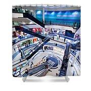 Modern Shopping Mall Interior Shower Curtain