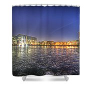 Modern Skyline  Shower Curtain by Nathan Wright