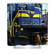 Modern Train Engine Shower Curtain