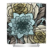Modern Water Lily Shower Curtain