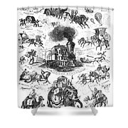 Modes Of Travelling Shower Curtain