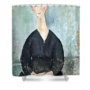 Modigliani's Cafe Singer Shower Curtain