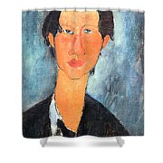 Modigliani's Chaim Soutine Up Close Shower Curtain