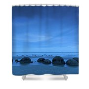 Moeraki Boulders Also Known As Te Shower Curtain
