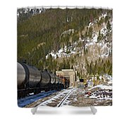 Moffat Tunnel East Portal At The Continental Divide In Colorado Shower Curtain