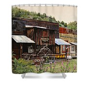 Mogollon-theatre-new Mexico  Shower Curtain