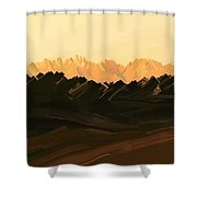 Mohave Desert Mountains Shower Curtain