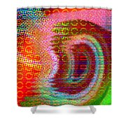 Moire No 4 Shower Curtain