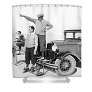 Mojave Desert Golf Course Shower Curtain