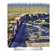 Mojave Desert Train By Diana Sainz Shower Curtain