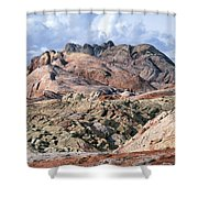 Mojave Desert View - Valley Of Fire Shower Curtain