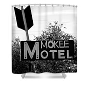Mokee Motel Sign Circa 1950 Shower Curtain
