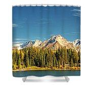 Molas Lake And The Needle Range Pan 2 Shower Curtain