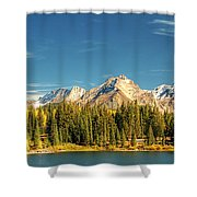 Molas Lake And The Needles Pan 1 Shower Curtain