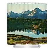 Molas Lake Sunrise Shower Curtain
