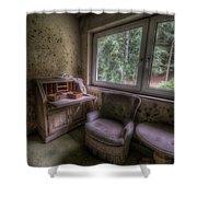 Moldy Desk Shower Curtain