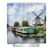 Molen Van Sloten And River Shower Curtain