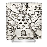 Moloch Shower Curtain
