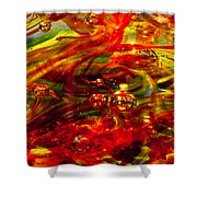 Molten Bubbles Shower Curtain