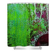 Molten Earth Lime Shower Curtain