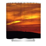 Molten Evening Shower Curtain