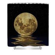 Molten Moon Shower Curtain