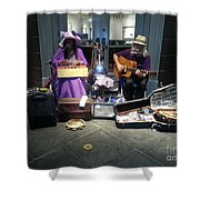 Mom And Pop Band Shower Curtain