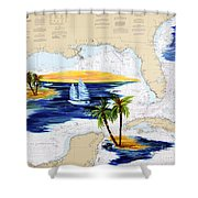 Moments Aweay Shower Curtain