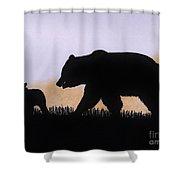 Momma Bear And Cub Shower Curtain