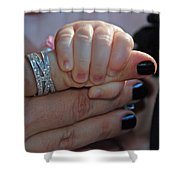 Mommy Is Here Shower Curtain